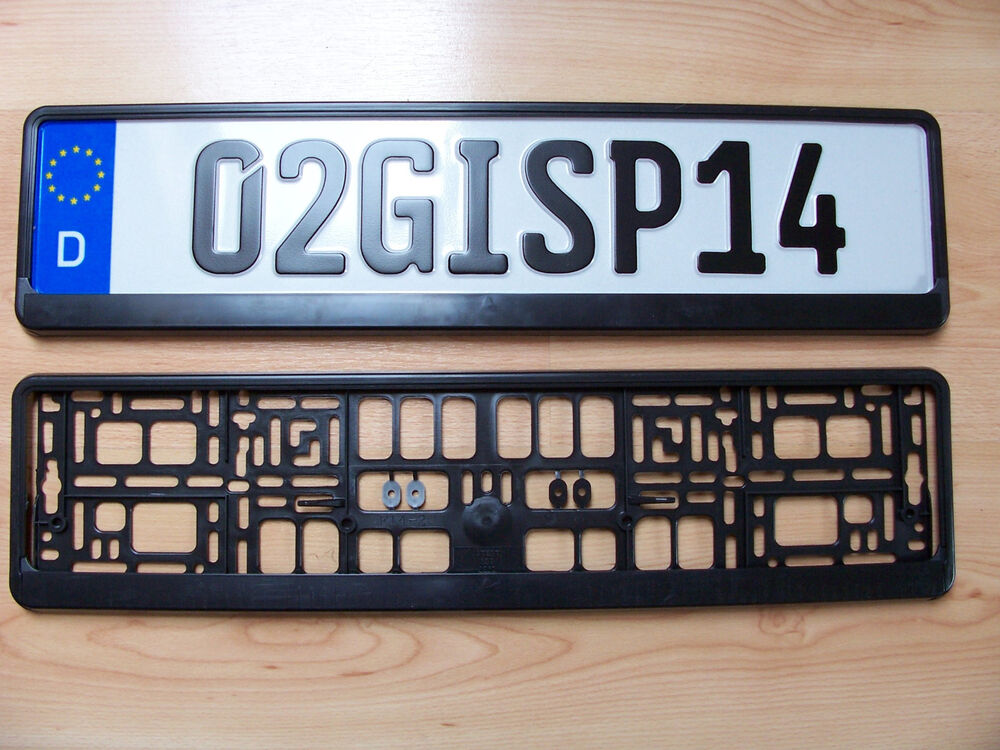 European Euro License Number Plate Holder Frame Car Uk Eu