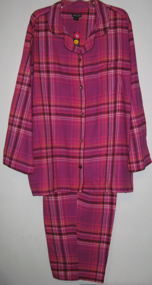 New womens plus size 2x joe boxer winter flannel pajamas for Womens flannel night shirts