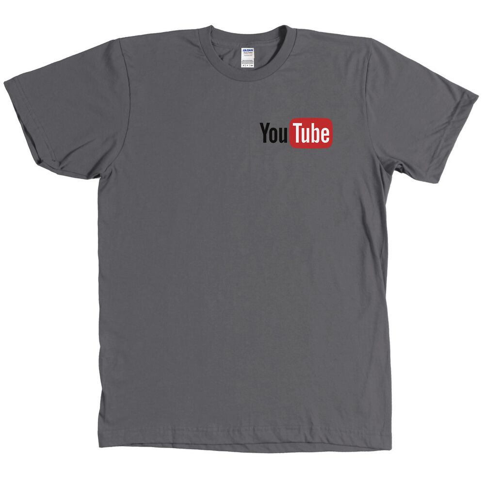 youtube chest logo t shirt you tube tee many colors new with tags ebay. Black Bedroom Furniture Sets. Home Design Ideas