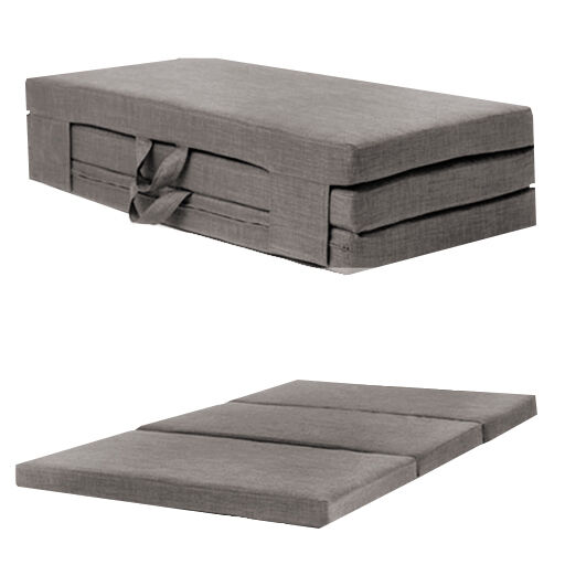 Slate Grey Double 4ft Folding Sofabed Futon Fold Out Foam