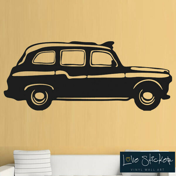 wall stickers black cab london taxi cool english retro hall art