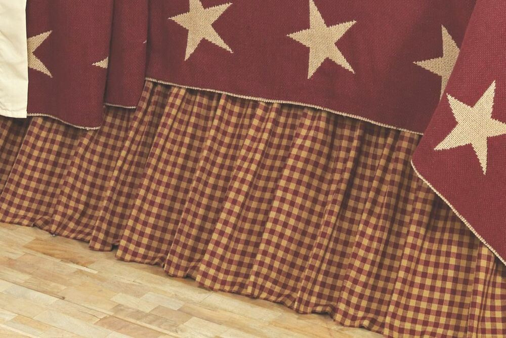 Burgundy King Bed Skirt