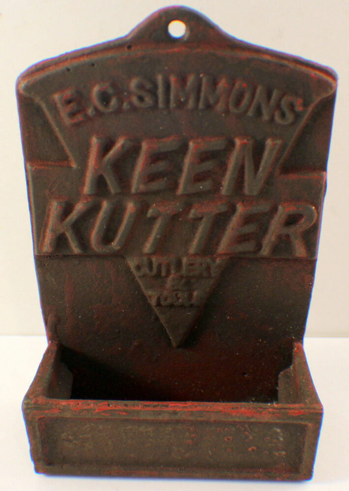 Keen Kutter Match Holder With Antique Patina Cast Iron E C