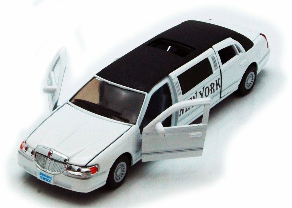 1999 Lincoln Town Car New York Stretch Limousine Taxi 1 38 Diecast White Ebay