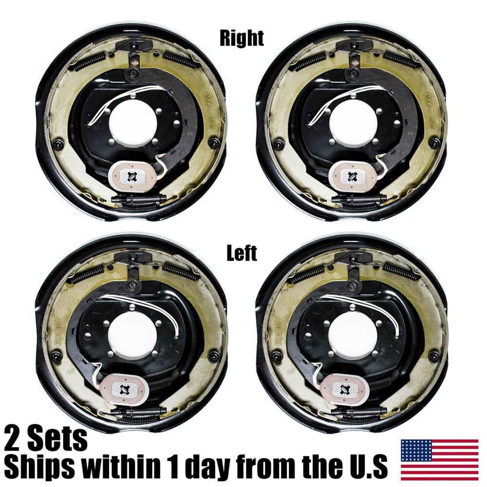 4 Electric Trailer Brakes Right Amp Left Backing Plate 12