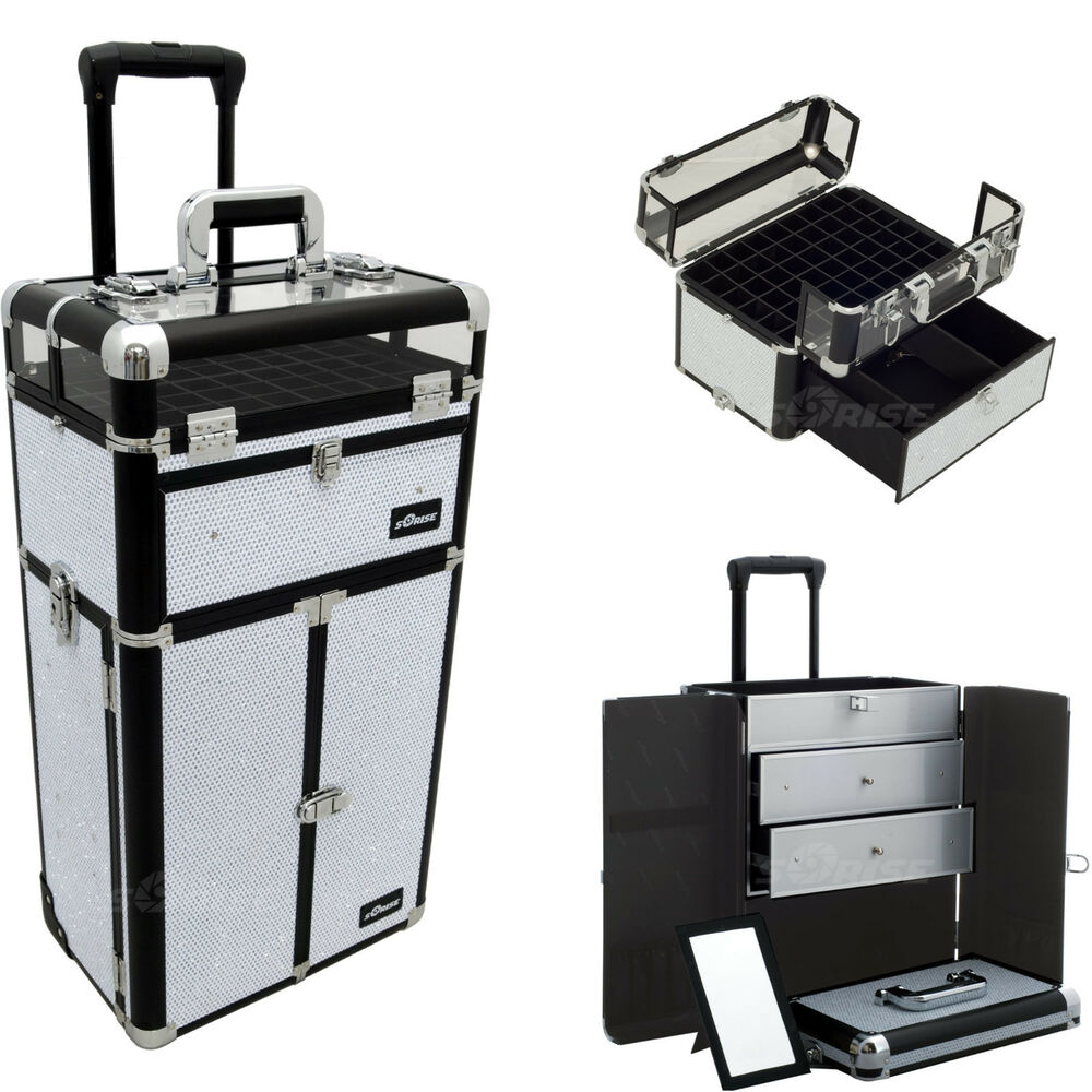 Makeup Storage Box Train Make Up Cosmetic Luggage
