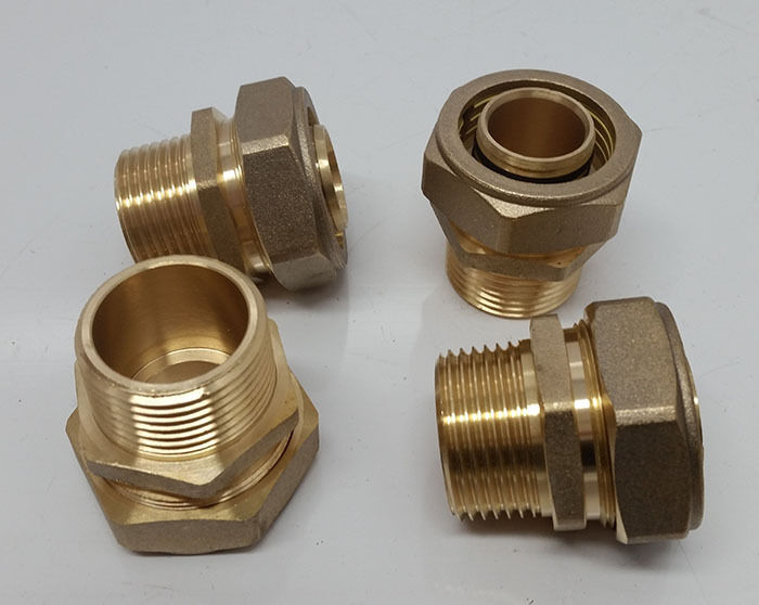 Quot pex al compression fitting mpt male pipe thread