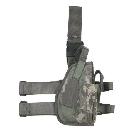 img-TACTICAL LEG HOLSTER MAGAZINE MAG POUCH RIGHT AIRSOFT ARMY US ACU DIGITAL CAMO
