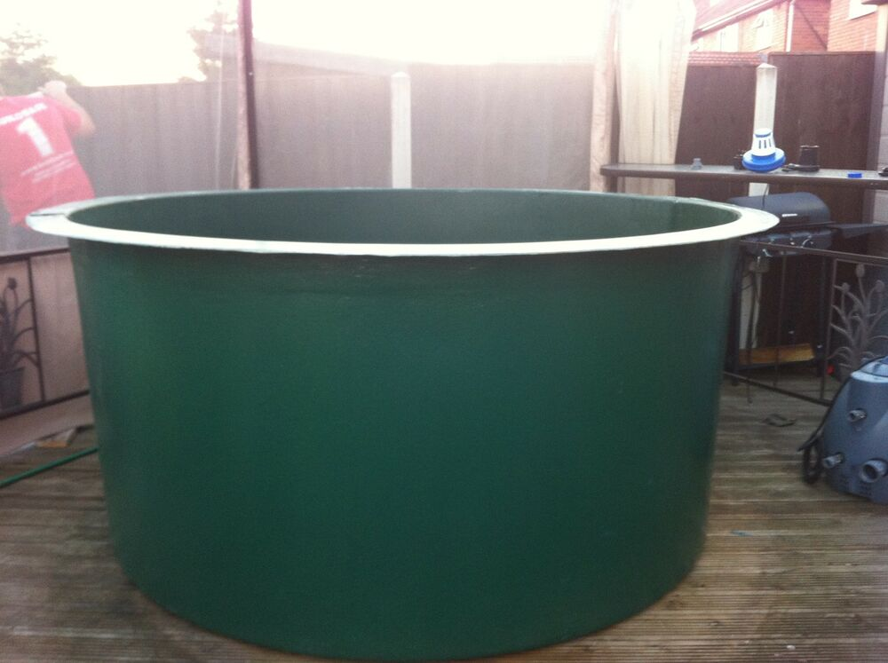 750 gallon fibreglass koi vat holdingtank pond quarantine for Koi quarantine pond