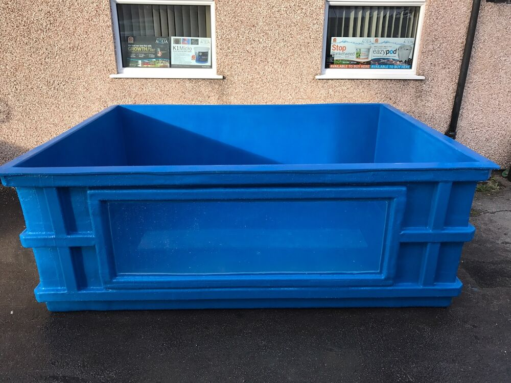 900 Gallon Fibreglass Koi Vatholdingtank Pond Quarantine Tank Viewing Window Ebay