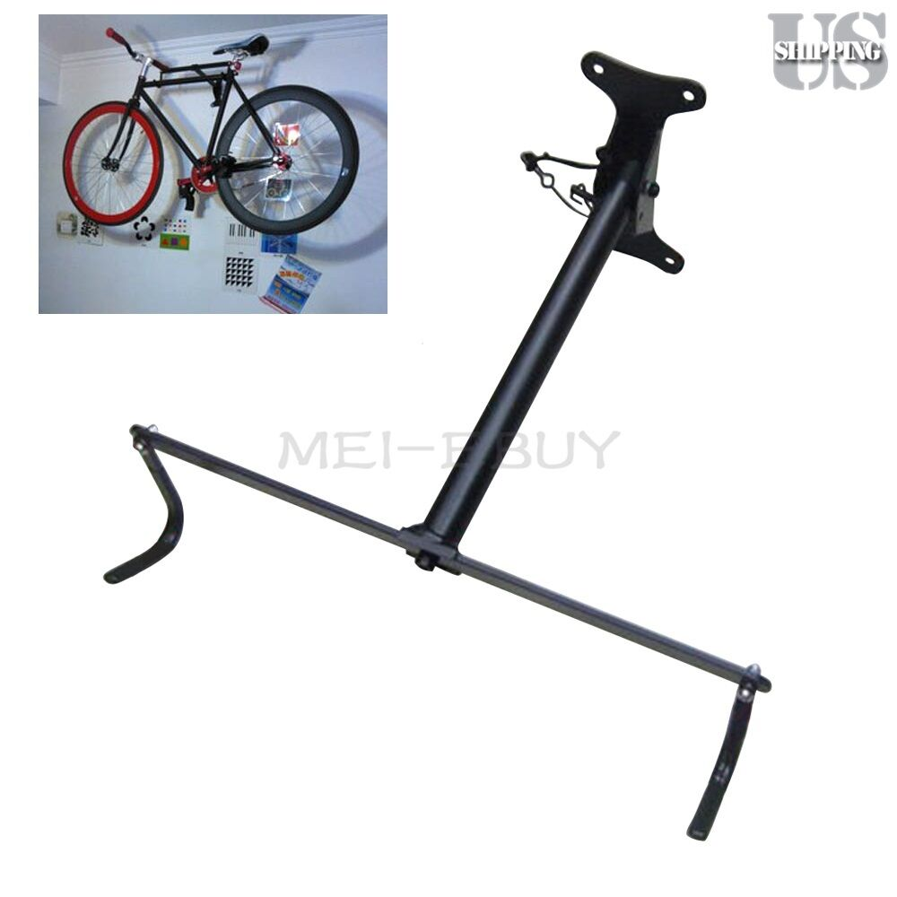 bicycle storage hanger rack garage wall mount bike steel hook holder w screws ebay. Black Bedroom Furniture Sets. Home Design Ideas