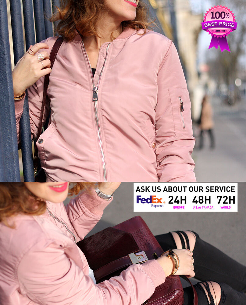 f7ede353a00 STRADIVARIUS (ZARA GROUP) WOMEN NEW! AW16 COLLECTION BOMBER JACKET PINK  08099276