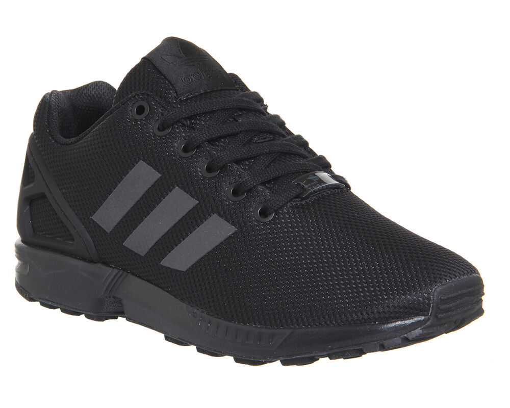 mens adidas zx flux black trainers shoes ebay