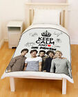 New [1D] Keep Calm and Love [One Direction] Pre-Autographed Fleece Throw Blanket