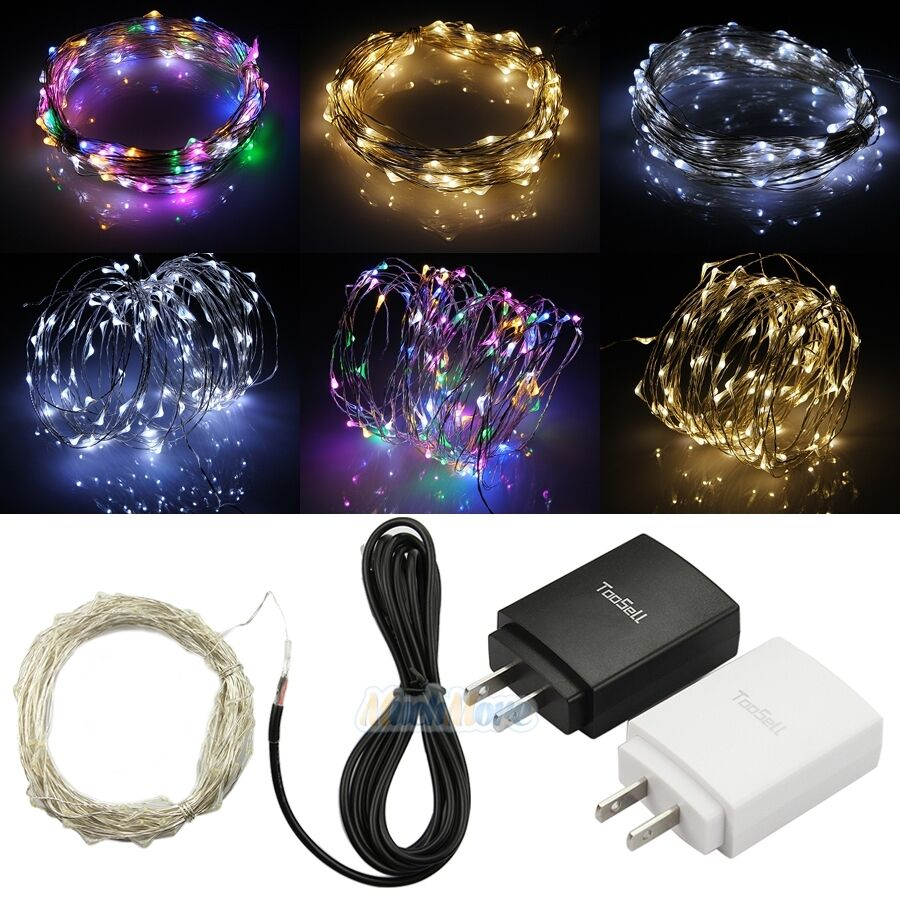 Led String Lights Usb : 10M USB Powered 100 LED Copper Wire String Fairy Lights w/ USB Adapter Free Ship eBay