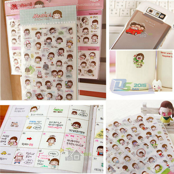 Diy Calendar Diary : Sheets momoi transparent sticker calendar diary book diy