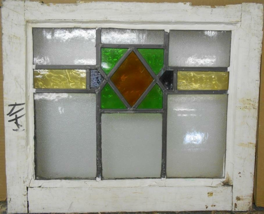 Old english leaded stained glass window pretty geometric for 16 pane window