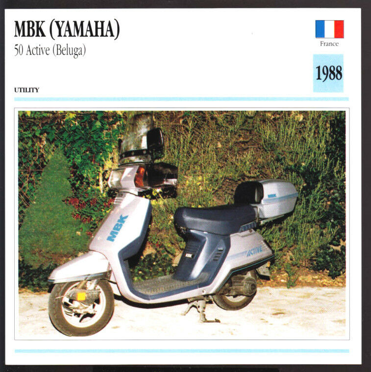 1988 mbk 50cc active beluga motobecane yamaha scooter. Black Bedroom Furniture Sets. Home Design Ideas