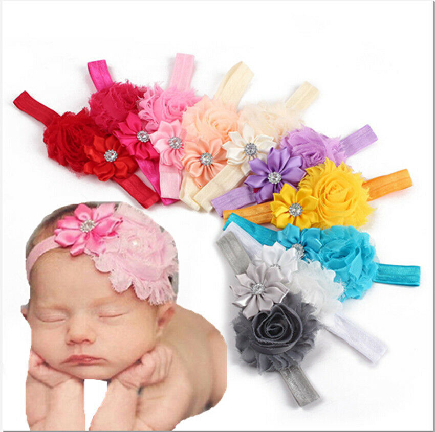 Pcs Set Girl Baby Toddler Infant Flower Headband