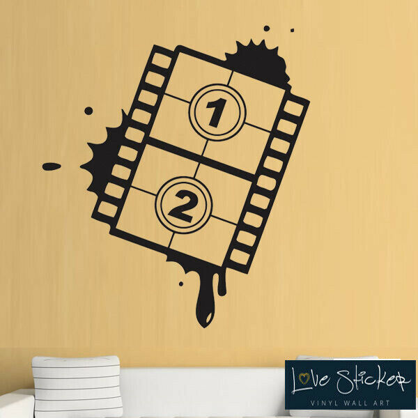 wall stickers cinema film roll movie living room cool art decals