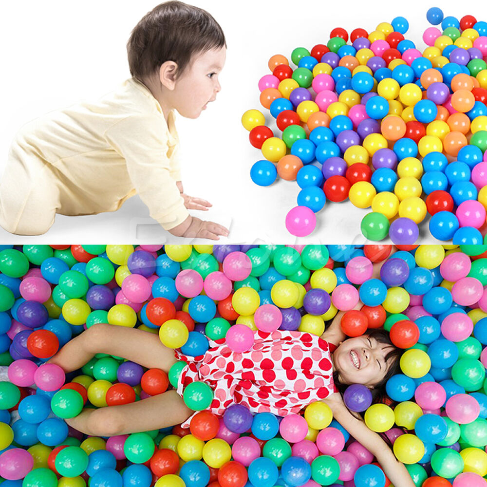 Plastic Toy Balls : Pcs cm colorful ball fun soft plastic ocean