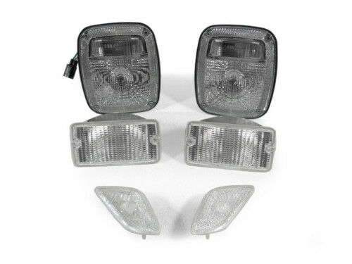 1998 2006 Jeep Wrangler Tj 6pc Clear Tail Lights Signal