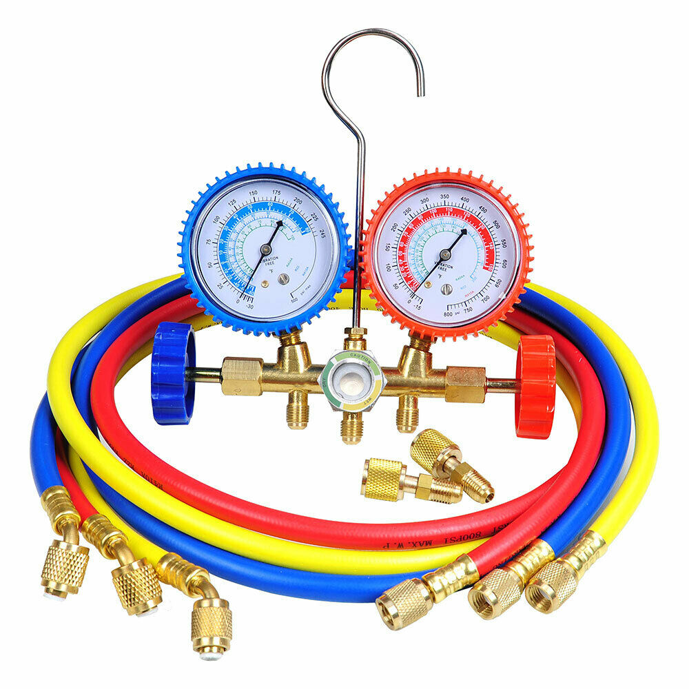 R410a R22 Manifold Gauge Set Ac A C 5ft Color Hose Air