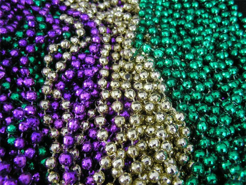 mardi gras purple gold green necklaces 6 dozen 72