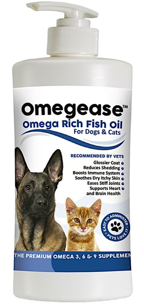 100 pure omega 3 6 9 fish oil for dogs and cats 16 oz for Dog food with fish oil