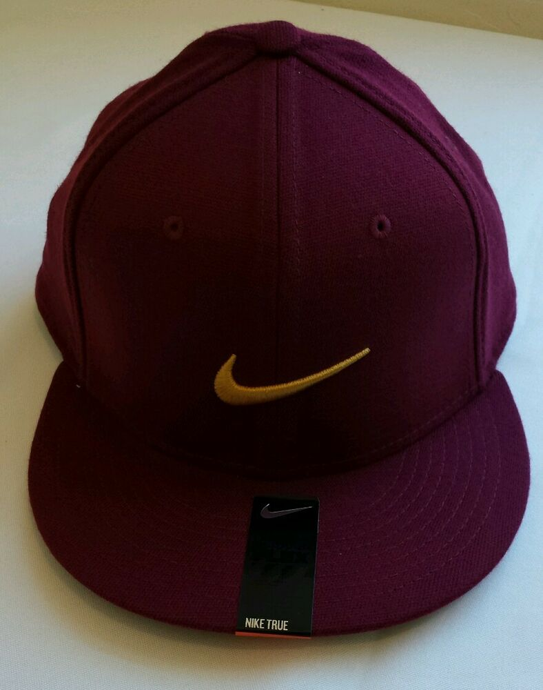 Details about NIKE TRUE Flex Fit Hat Cap 667529-669 Red With Gold NIKE  Swoosh NWT 4b036dc1d097
