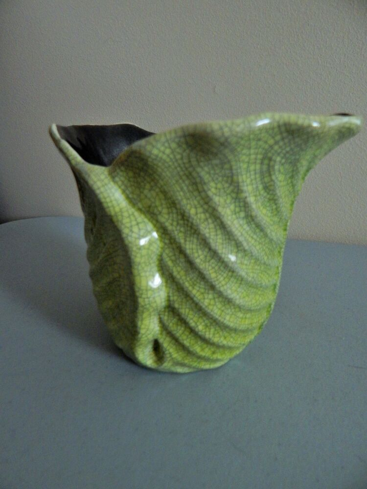 Red Wing Pottery Vase 1282 Green Crackle 5 Quot Tall Ebay