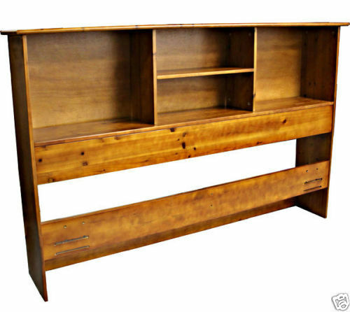 Solid wood bookcase headboard scandinavia bedroom for Bookshelf bed headboard
