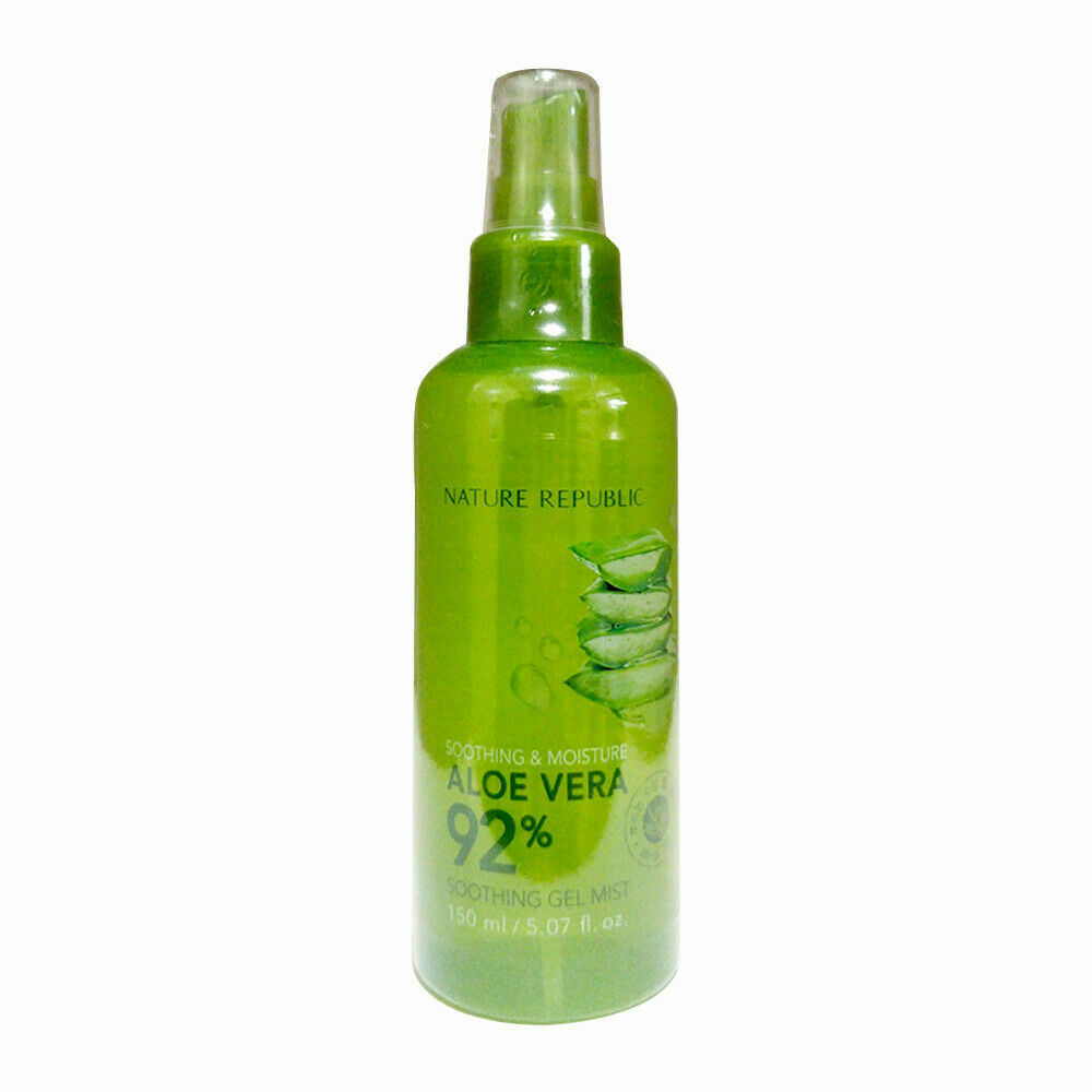 nature republic soothing moisture aloe vera 92 soothing gel mist 150ml ebay. Black Bedroom Furniture Sets. Home Design Ideas