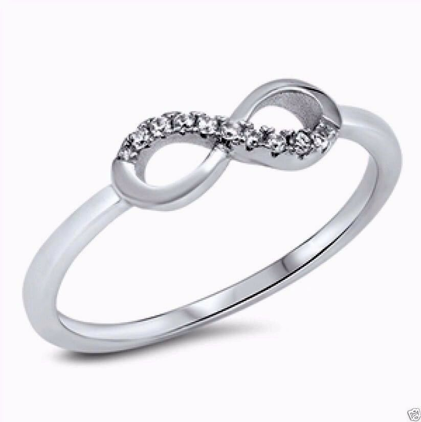 Usa seller infinity cz ring sterling silver 925 best price for New top jewelry nyc prices