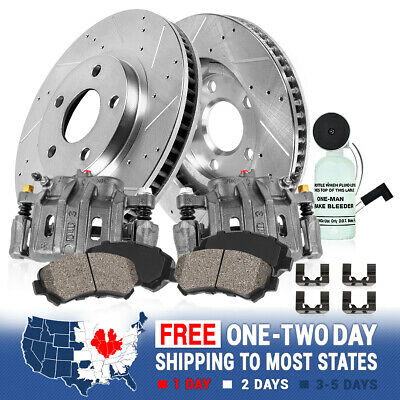 Front Brake Calipers Rotors Pads For 1994 1995 1996 1997 - 1999 Dodge Ram 1500