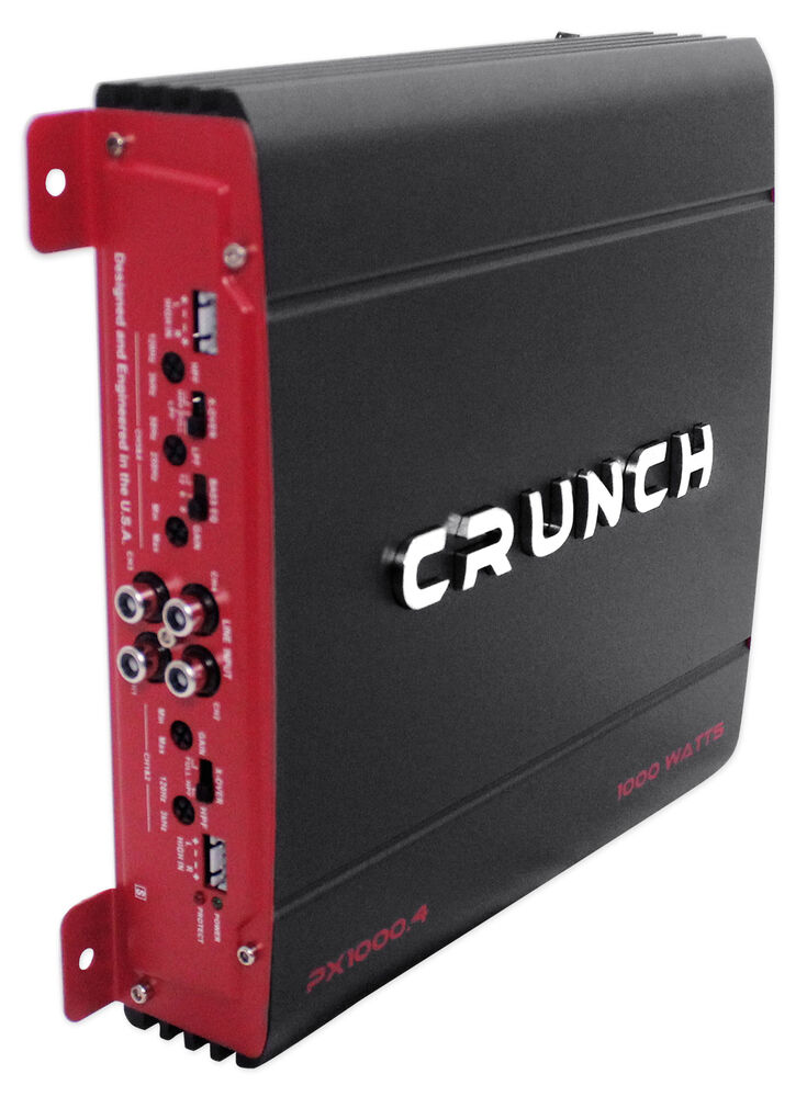 crunch px 1000 4 1000 watt 4 channel powerful car audio amplifier amp px1000 4 ebay. Black Bedroom Furniture Sets. Home Design Ideas