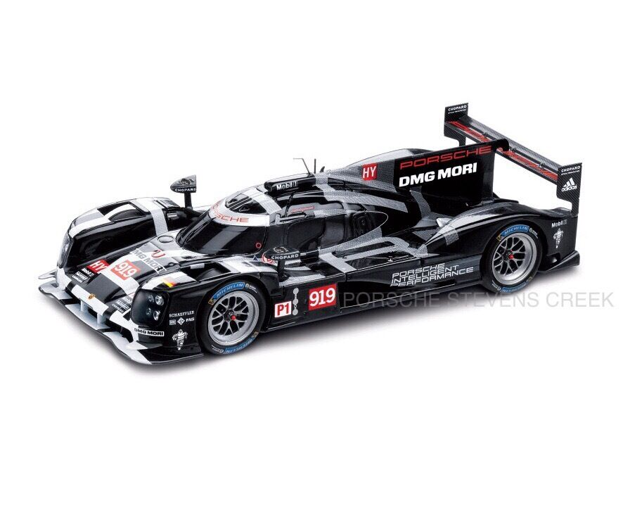 porsche 919 hybrid le mans race car diecast model 1 43. Black Bedroom Furniture Sets. Home Design Ideas