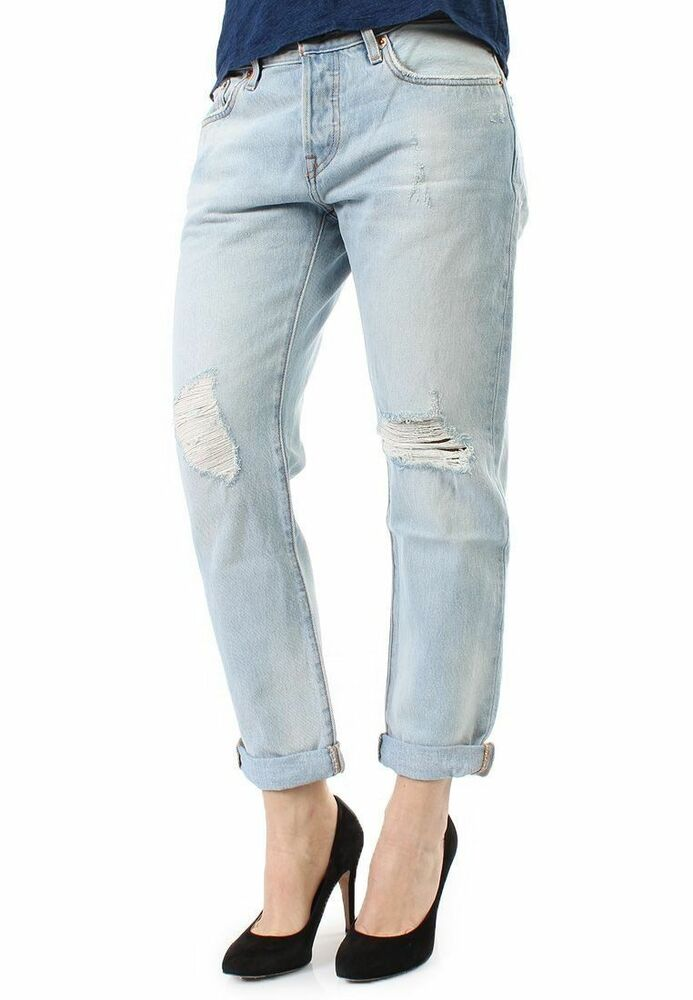 levis 501 ct jeans womens customized and tapered boyfriend. Black Bedroom Furniture Sets. Home Design Ideas