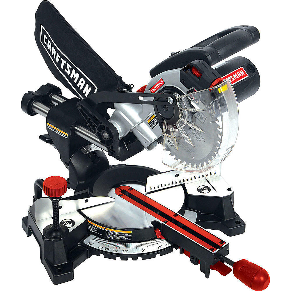 Craftsman 7 1 4 Inch Laser Trac Sliding Compound Miter Saw