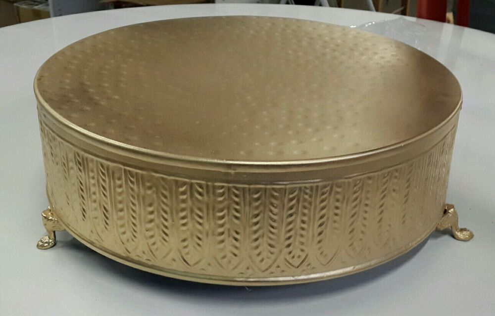 Round Cake Stand Silver
