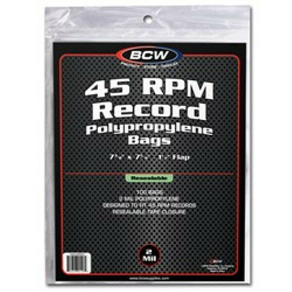 500 Bcw Record Covers 45 Rpm Plastic Outer Bags Holders