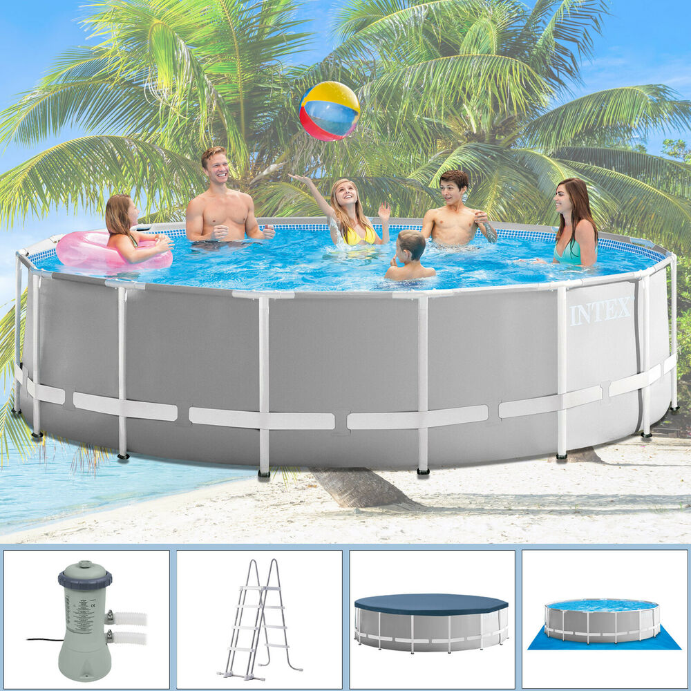 intex 457x122 schwimmbecken swimming pool schwimmbad stahlwand komplettset 28326 ebay. Black Bedroom Furniture Sets. Home Design Ideas