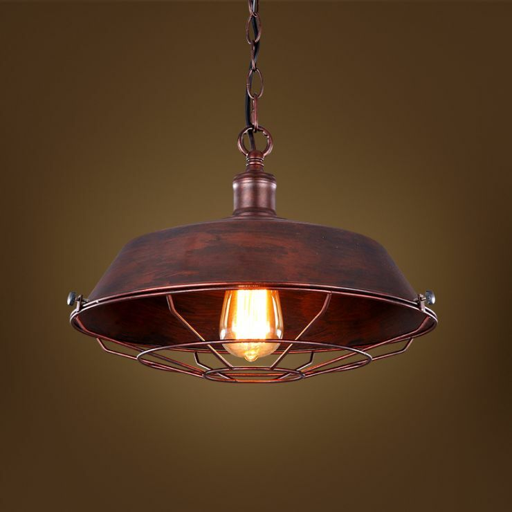Vintage Barn Pendant E27 Light Ceiling Lamp Caged Hanging