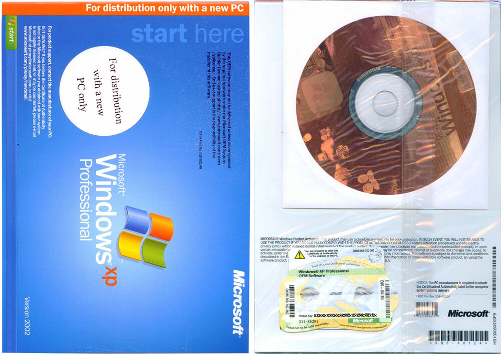 New Microsoft Windows XP Professional Full Version with ...