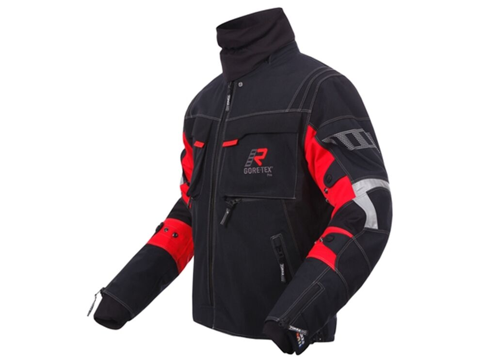 Gore Tex Motorcycle Jacket Motorcycle jacket Gore-Tex Rukka Armaxis Size: 52 black/red GTX ...