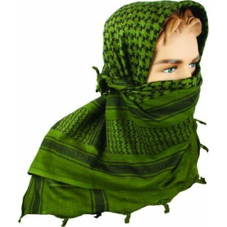 img-BRITISH ARMY, NATO, SHEMAGH SCARF CLASSIC MILITARY GREEN BLACK TA CADET SF