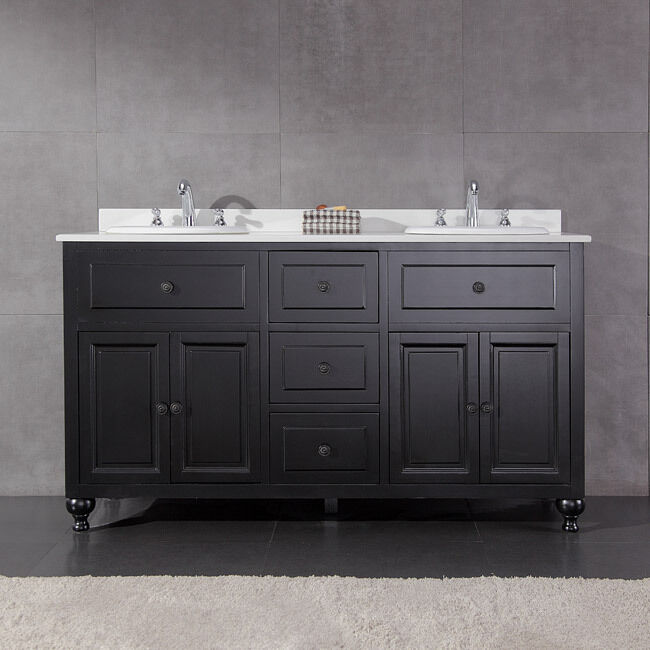 60 Vanity Top Double Sink OVE Decors Keith 60 Inch Double Sink Bathroom Vanity With