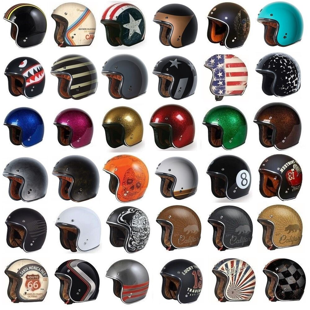 T50 Torc 3 4 Open Face Motorcycle Scooter Helmet Dot Cafe