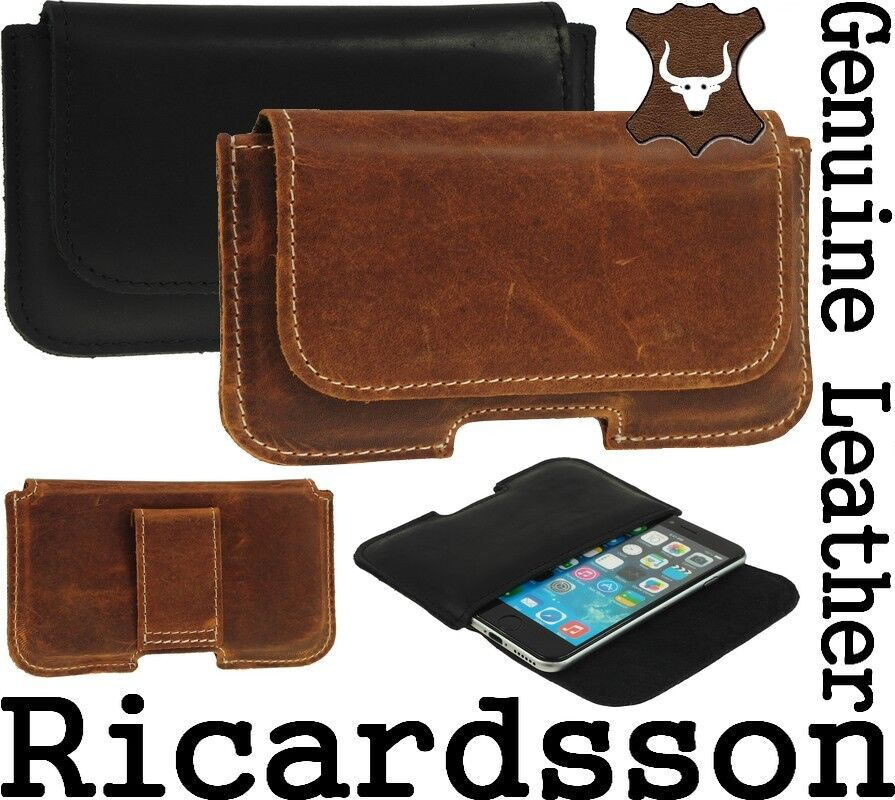 ricardsson genuine real leather holster belt loop pouch