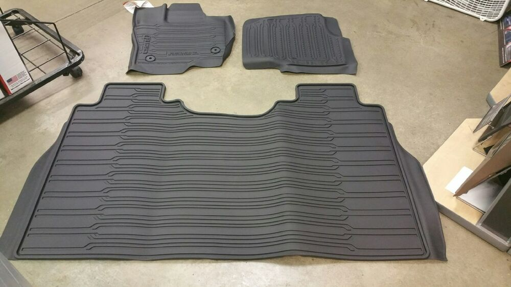 2015 2016 2017 Ford F 150 Crew Cab Tray Floor Mat Black